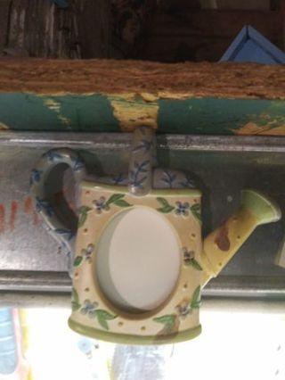 Photo frame magnet, watering can, garden, Grandma brag swag,
