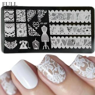 12x6cm Stainless Steel Beauty Lace Image Nail Art DIY Image Printer Manicure Stencils Nail Stampin