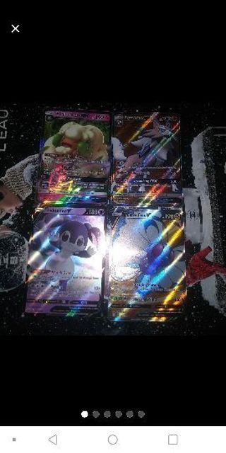 4 Near-Mint Condition Pokemon Ultra GX&V Full Art Holo Cards