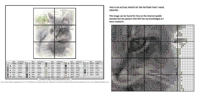 Shadow of a Cat Cross Stitch Pattern