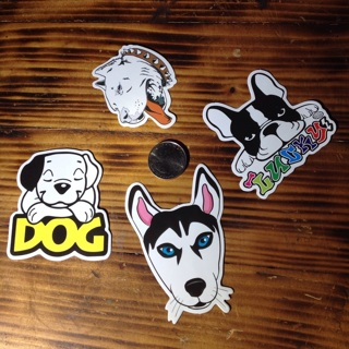Dogs dog faces heads stickers sticker lot