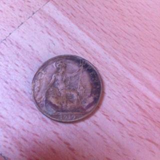 1919 old British penny