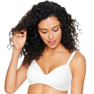 Hanes Ultimate Bra: Soft Wire-Free Convertible T-Shirt Bra HU03 Lot of 4 Bras