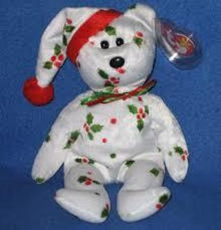 NEW w/ TY TAG 1998 HOLIDAY TEDDY BEAR BEANIE BABY