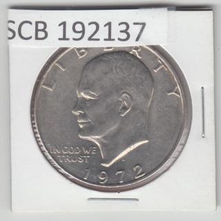 1972 D Ike Eisenhower Dollar AU * NICE * 192137
