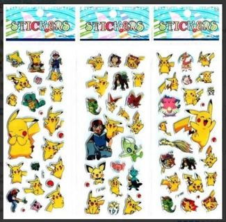 1 Value Pack $ NEW Japanese Anime Pokemon Pop Up BUBBLE Stickers Super Cute! Winner FREE SHIPPING
