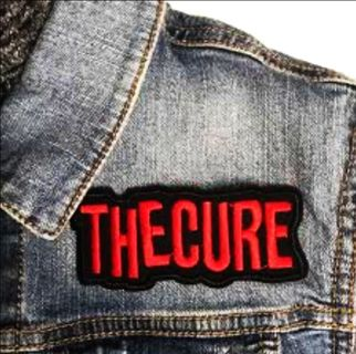 """NEW 4"""" The Cure New Wave Rock Logo Embroidered Iron on Patch FREE SHIPPING"""