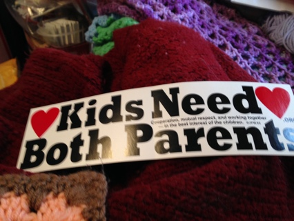 Kids Need Both Parents Bumper Stickers