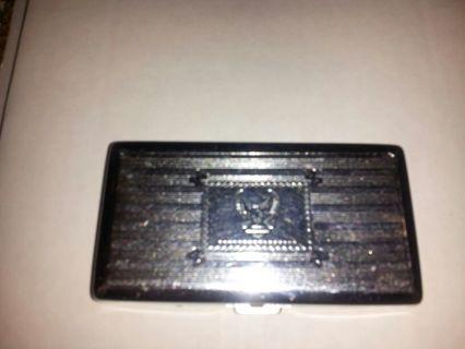 Free Harley Davidson Cigarette Case Pressed Steel Eagle Design Roll