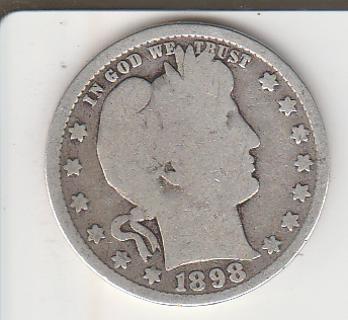 1898 Silver Quarter Auction!