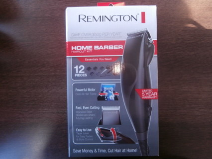 Remington Mens HOME BARBER Haircut Electric Corded Shaver, 12pc Kit
