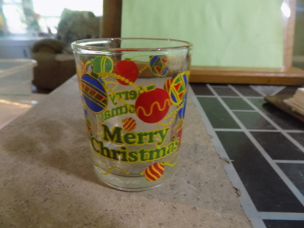 Merry Christmas votive candle holder # 1 Christmas bulbs painted