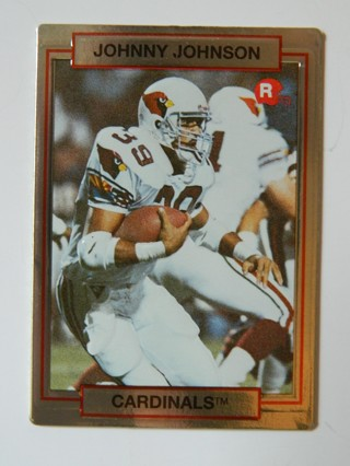 1990 (Action Packed) HI-PRO MKTG., INC., JOHNNY JOHNSON (39) #22 ROOKIE Card RC Phoenix Cardinals RB