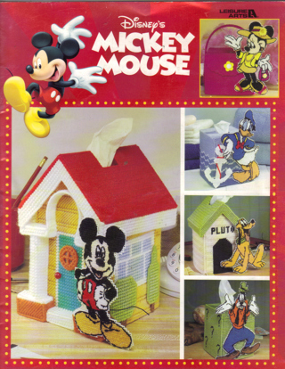 Free AWESOME DISNEYS MICKEY MOUSE PLASTIC CANVAS TISSUE COVERS Cool Plastic Canvas Pattern Books