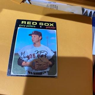 1971 topps gary peters baseball card