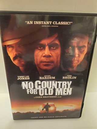 "DVD - ""No Country For Old Men"" - rated R"