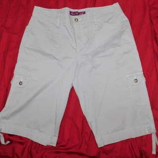 Awesome Gray Capri Tie Bottom Pants Crop- Corp Goth Pants Slacks Womens 14(p)