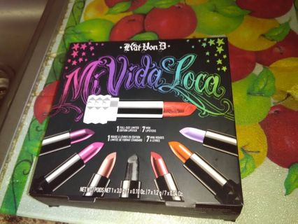KAT VON D. Mi Vida Loco lipstick set....sold out except for ebay!
