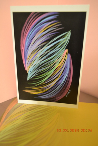 """****BLANK CARD """"UNIQUE"""" BY SHARON GALE W/MATCHING ENVELOPE***FREE SHIPPING***"""