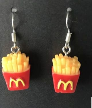 McDonald's french fry earrings gag gift New Free ship