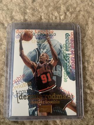 Dennis Rodman 1996-97 Skybox Double Trouble #276 Chicago Bulls
