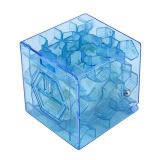 3D Cube Puzzle Money Maze Bank Saving Coin Collection Case Box