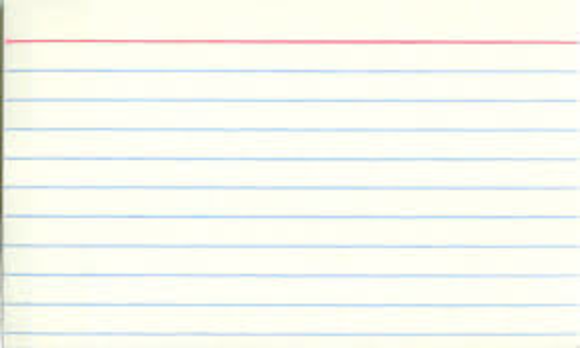 NEW White Index Cards