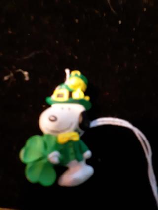 Snoopy shamrock shirt pin