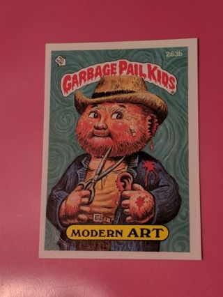 1987 Topps GPK Modern Art 263b Sticker Card