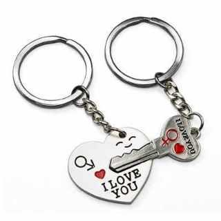 ♥NEW♥2 Piece Lovers Key Chain♥