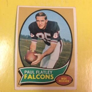 1970 Topps #66 WR Paul Flatley - Falcons