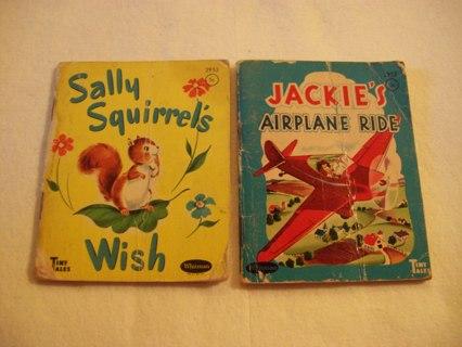 TWO 1940's Whitman Tiny Tales Miniature Books