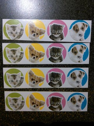Puppies & Kittens Stickers w/ FREE Shipping