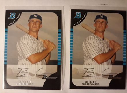 2 - BOWMAN BRETT GARDNER ROOKIE CARDS