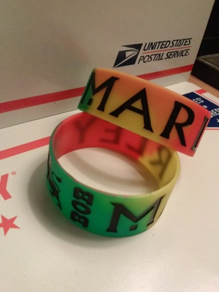 1 bob marley lion bracelet rasta wristband reggea dub hot topic GIN