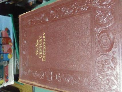 Antique 1927 RARE Appleton New Century Dictionary Big Heavy Reference English