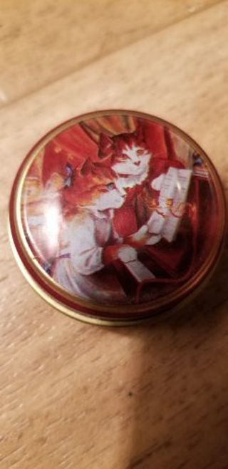 Miniature cat tin can