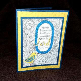 Proverbs 8:35  card-  handmade