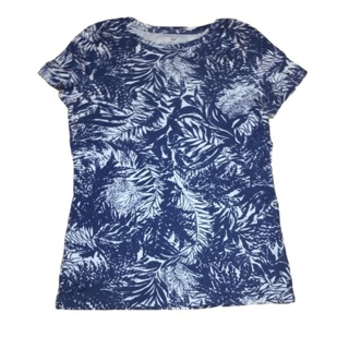 TALBOTS Blue and White Tee Small Petite
