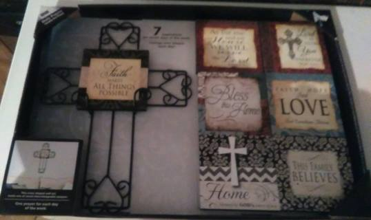 NEW Beautiful Cross with 7 Different Plaques