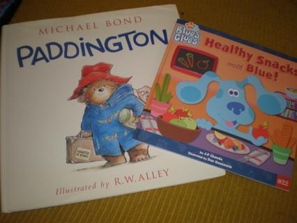 Paddington Bear and Healthy Snacks with Blue Books NEW