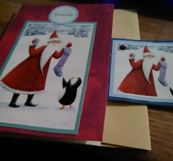 Christmas Celebrations Design Blank Card with Envelope