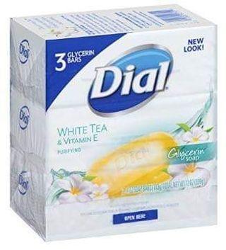 ⭐ DIAL WHITE TEA & VITAMIN E - 3 PACK BAR SOAP ⭐