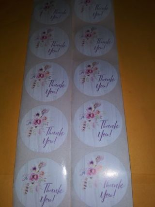 Thank you 20 pc stickers one inch No refunds! Regular mail no refund I send all