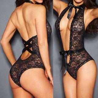 Women's Lingerie Babydoll Sleepwear Underwear Lace Dress G-String Nightwear