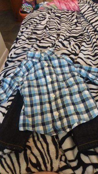 Baby boy jean and shirt 12-18months