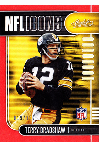 2019 Panini Absolute NFL Icons Terry Bradshaw Red Variant SP #'d 19/100