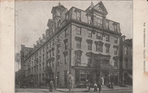 Vintage Used Postcard: Pre Linen: Lochiel Hotel, Harrisburg, PA