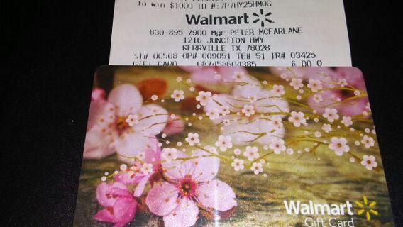 $6 WALMART GIFT CARD