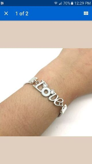 Mouse***Love***Fashion Leather White Silver Plated Bracelet NEW